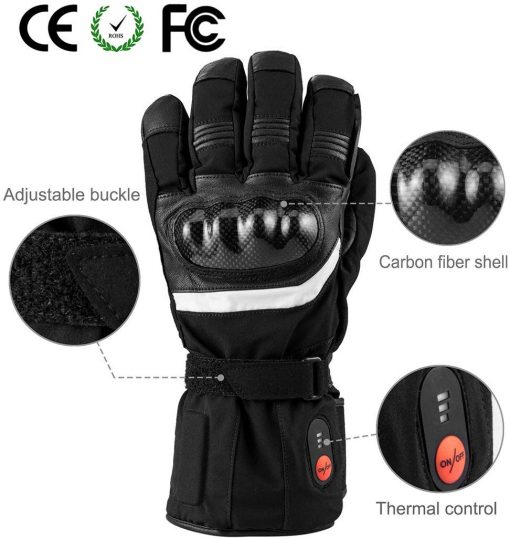 Thick Heated Motorcycle Gloves 2