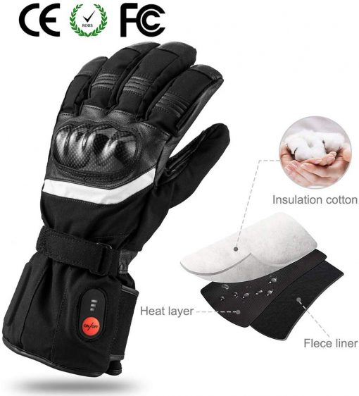 Thick Heated Motorcycle Gloves 3