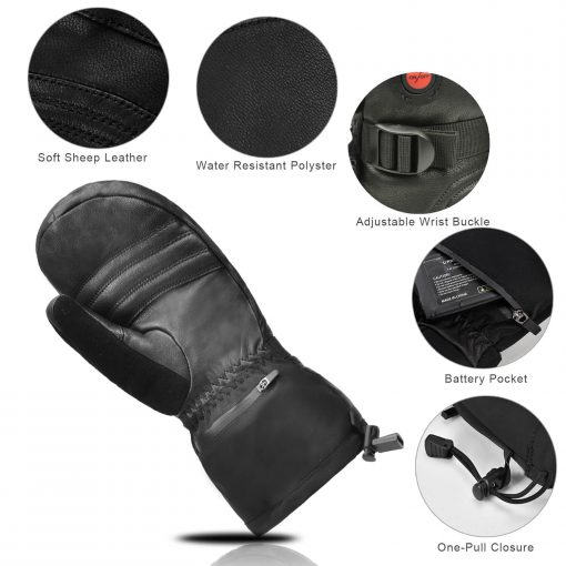 goat leather heated mittens 4