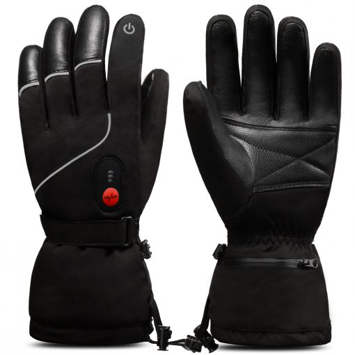 Goat Leather Ski Battery Heated Gloves