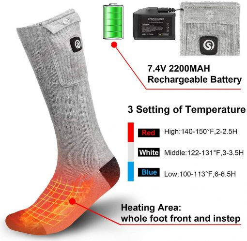 Rechargeable Battery Powered Heated Socks Supplier 3