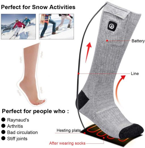 Rechargeable Battery Powered Heated Socks Supplier