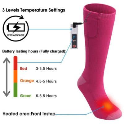 3.7V heated socks