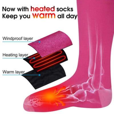 3.7V heated socks 2