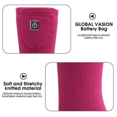 3.7V heated socks 3