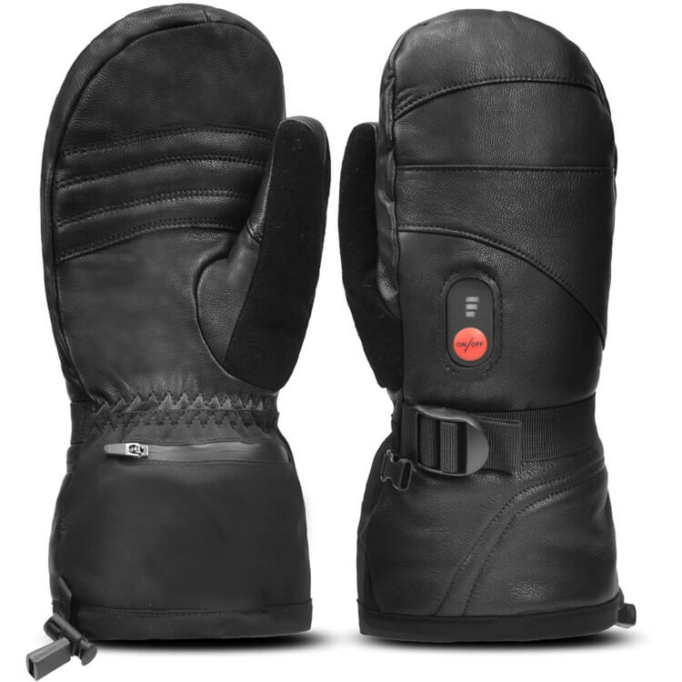 Goat Leather Heated Mittens 11