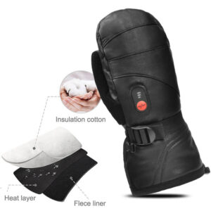 Goat Leather Heated Mittens 7